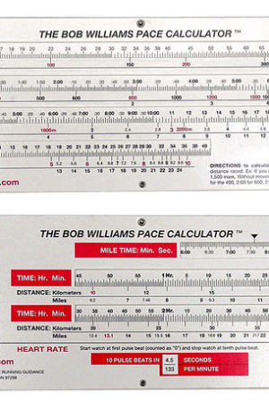Bob Williams Road & Track Pace Calculator
