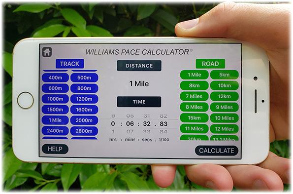Williams Pace Calculator